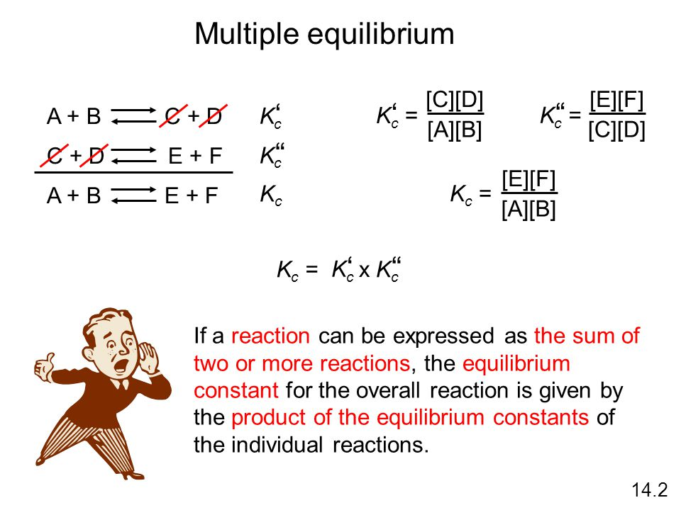 how to find equilibrium constant given two reactions